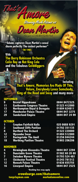 That's Amore - UK Tour Ad
